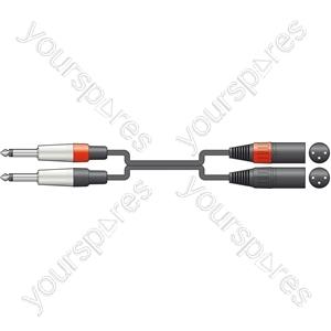 Classic 2 x 6.3mm Mono Jack to 2 XLRM Leads - XLRM-2 6.0m - 26J-2XM600