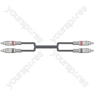 Classic Twin RCA to Twin RCA Leads - 2RCA-2RCA 1.5m - 2R-2R150