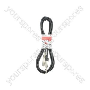Classic 6.3mm TRS Jack Socket to 6.3mm TRS Jack Plug Leads - 6.35mm M-F 3.0m - S6J-EXT300