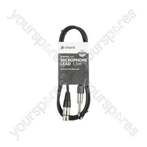 XLRF to 6.3mm Mono Jack Plug Leads - Standard Mic CCA 1.5m