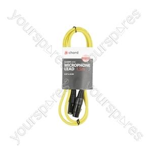 Classic XLRF to XLRM Leads - M-F 1.5m Yellow - XF-XM150YW