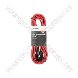 Classic XLRF to XLRM Leads - M-F 6.0m Red - XF-XM600RD