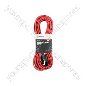 Classic XLRF to XLRM Leads - M-F 12.0m Red - XF-XM1200RD