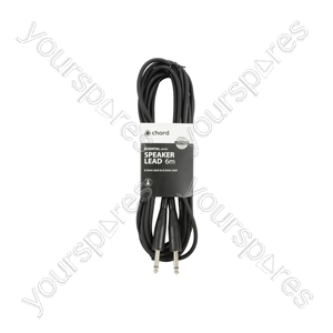 6.3mm Jack to Jack Speaker Leads - Standard Jack-Jack 6.0m Blk