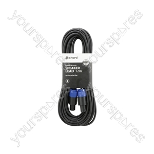 Spk Plug to Spk Plug Speaker Leads - Standard 12.0m