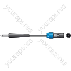 Classic 6.3mm Jack to Spk Plug Speaker Leads - - 6.0m - SPK-J600