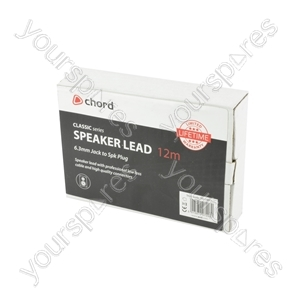 Classic 6.3mm Jack to Spk Plug Speaker Leads - - 12.0m - SPK-J1200