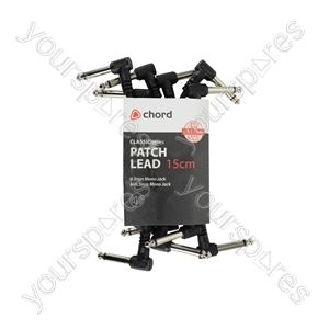 Classic Patch Leads - Set 6pcs 15cm Bk - PATCH015BK