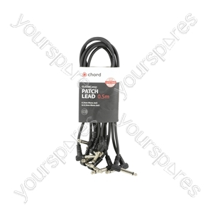 Classic Patch Leads - Black 6 pcs 0.5m - PATCH050BK
