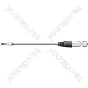 Classic Stereo minijack to mono XLRM lead - 1.5m