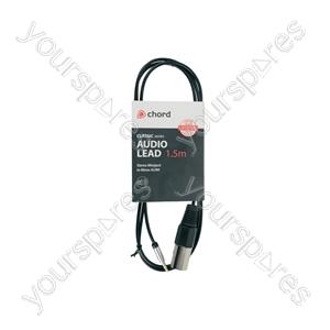 Classic 3.5mm Stereo Minijack to Mono XLR Lead - XLRM - 1.5m - MP3-XLR