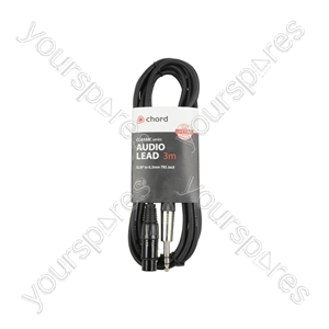 Classic XLRF to 6.3mm TRS Jack Leads - - 3.0m - XF-S6J300