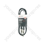 Classic 6.3mm TRS Jack to 6.3mm TRS Jack Leads - Jack-Jack 6.35mm 1.5m - S6J150