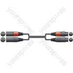Classic 2 XLRF to 2 XLRM Leads - XLRM-2 1.5m - 2XF-2XM150