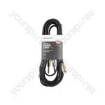 Classic Twin RCA to 2 x 6.3mm Mono Jack Plug Leads - 2RCA-2Jack 6.0m - 2R-2M6J600
