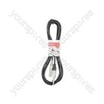 Classic 6.3mm TRS Jack Socket to 6.3mm TRS Jack Plug Leads - 6.35mm M-F 3.0m - S6J-EXT300