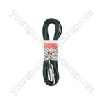 Classic 6.3mm TRS Jack Socket to 6.3mm TRS Jack Plug Leads - 6.35mm M-F 6.0m - S6J-EXT600