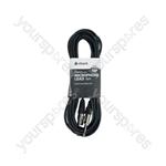 XLRF to 6.3mm Mono Jack Plug Leads - Standard Mic CCA 6.0m