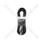 XLRF to 6.3mm Mono Jack Plug Leads - Standard Mic CCA 12m