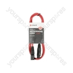 Classic XLRF to XLRM Leads - M-F 1.5m Red - XF-XM150RD