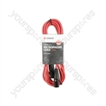 Classic XLRF to XLRM Leads - M-F 3.0m Red - XF-XM300RD