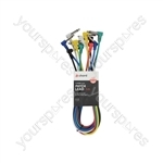 Classic Patch Leads - Multicolour 6 pcs 1.0m - PATCH100CL