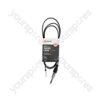Classic Stereo Minijack to Mono Channel Leads - 6.3mm - 1.5m - MP3-JK