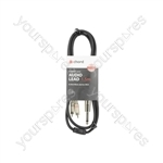 Classic 6.3mm Mono Jack to 2 RCA Leads - 1.5m - M6J-2R150