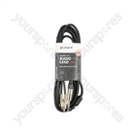 Classic 6.3mm Mono Jack to 2 RCA Leads - 3.0m - M6J-2R300