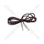Braided Guitar Leads - Black/Red 3m - BGL-3-RDBK