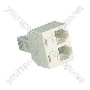 BUS19 double adaptor 6P4C - bulk