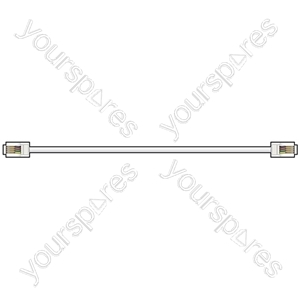 Modular Leads - BUS17 lead, 6P4C male to 6P4C male, 15.0m, White - bulk