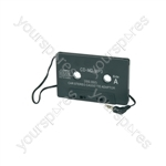 CD adaptor for standard car radio/cassette