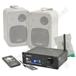 STA40-BT Amplifier and B30 Speakers Package - white