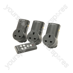 Remote Control Mains Socket Adaptor Set of 3 - RC3 RF controlled