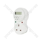 7 Day Digital Timer Socket - Weekly - TMR-4