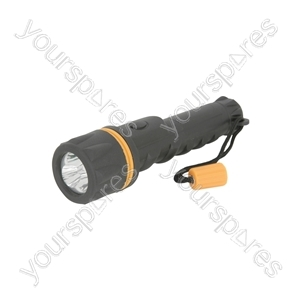 Heavy Duty LED Rubber Torches - 3 Straw hat 2 x AA - HDR01
