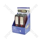 24 LED Work Light - With Hook, Box of 6pcs - WL024B6