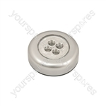 4 LED Round Push Light - Push-on - PL001