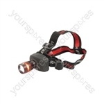 3W Cree LED Headlight - Cree® Rubberised Body - HL3CR