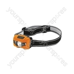 LED Head torch with red spots