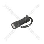 9LED Ruberised Flashlight