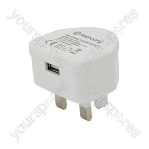 Compact USB Charger 1000mA - USB-UK110
