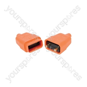 2-pin Rubber Connector 10A - 2Pin Orange
