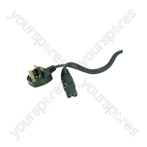 FB10B 10A Hot Mains Lead 1.0m Black