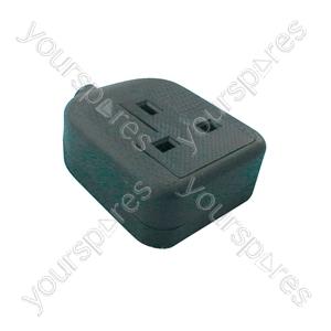 1 gang rubber socket, black
