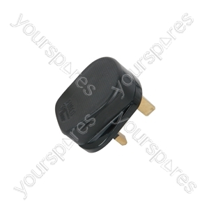 Rubber UK Mains Plugs - plug, 13A fuse, black