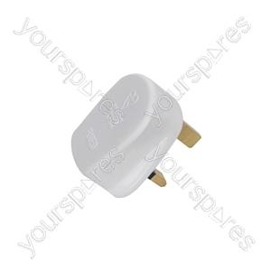 Fused UK Mains Plugs - plug, 5A fuse, white