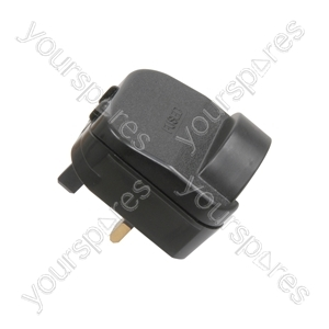 SCP Fused European Converter Plug - Black 13A plug- bulk - SCP13B