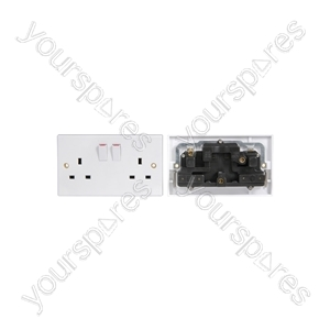 2 Gang Switched Mains Socket - Double socket